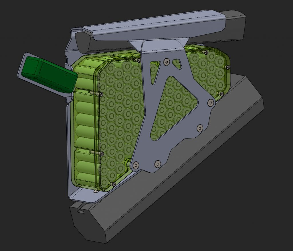 CAD Design an ebike battery