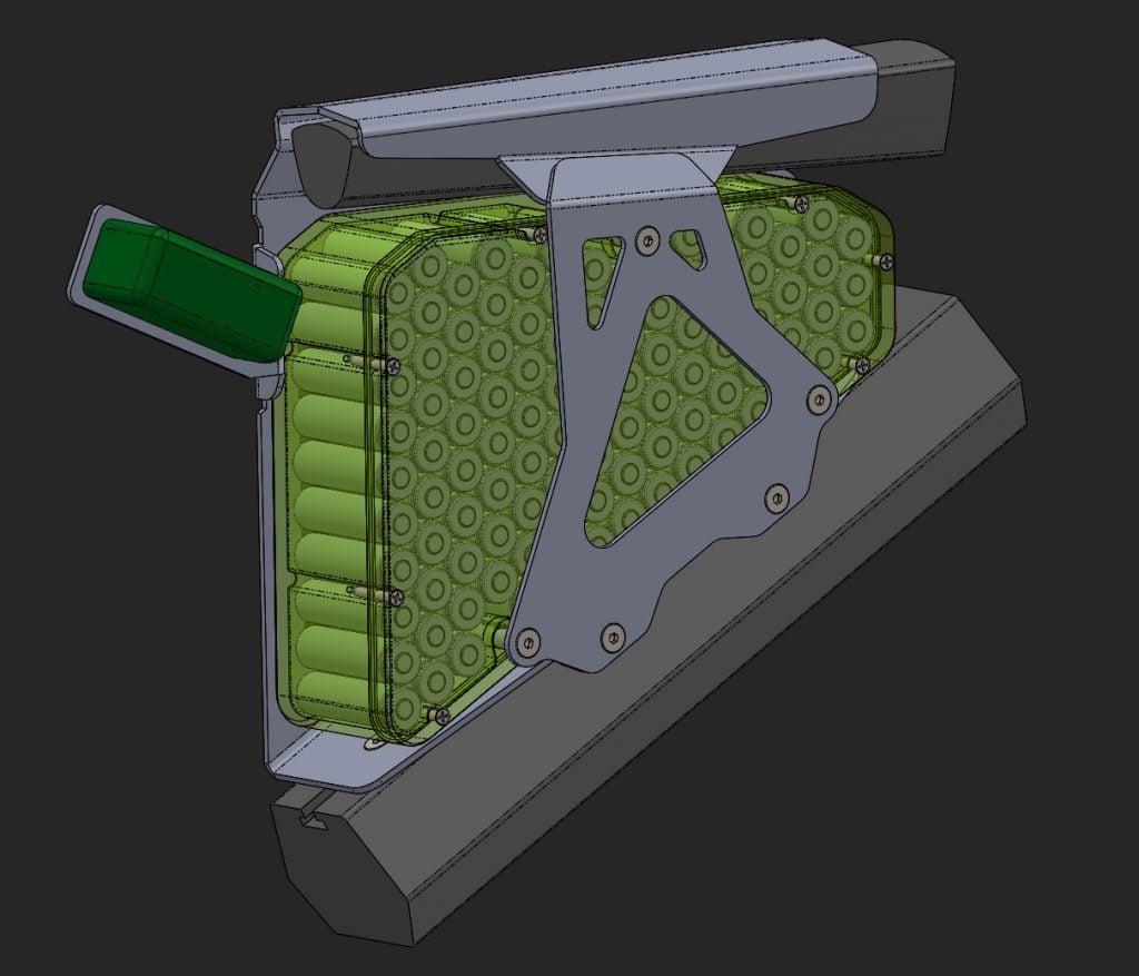 CAD design Ebike Battery – 1 2